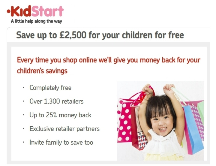 KidStart.co.uk Save for your kids with Cash Back on Purchases